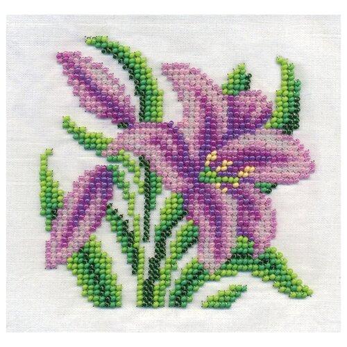 Купить Klart Набор для вышивания бисером Садовая лилия 12 х 12 см (8-125), Наборы для вышивания