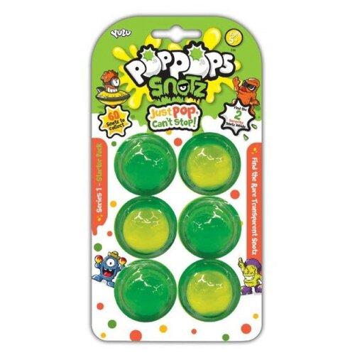 Купить Лизун YULU PopPops Snotz (YL50001) 6 шт. зеленый, Игрушки-антистресс