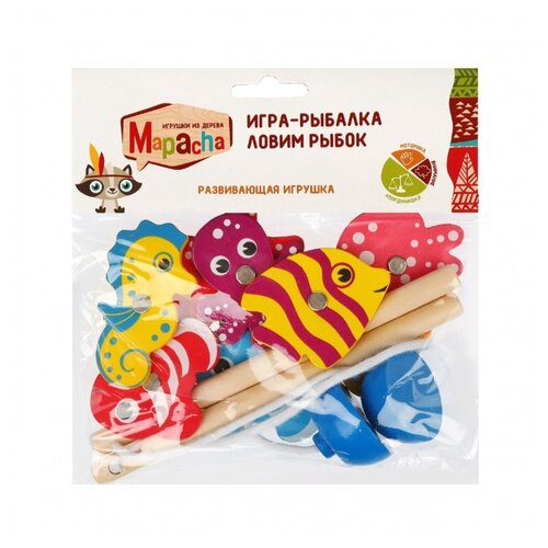 Фото - Рыбалка Mapacha Ловим рыбок (76630) разноцветный развивающая игрушка mapacha суперкуб разноцветный