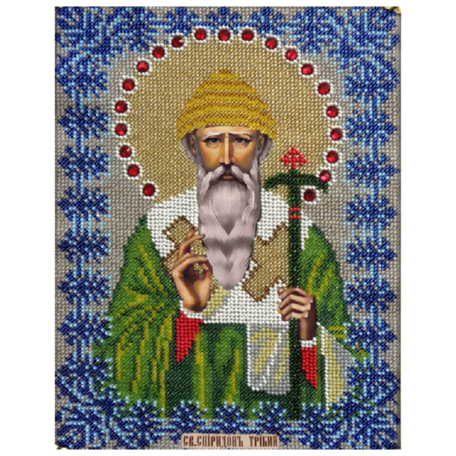 Купить Вышиваем бисером Набор для вышивания бисером Святитель Спиридон Тримифунтский 19 х 25 см (L-112), Наборы для вышивания