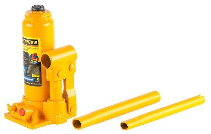 Домкрат бутылочный гидравлический STAYER 43160-3 (3 т)