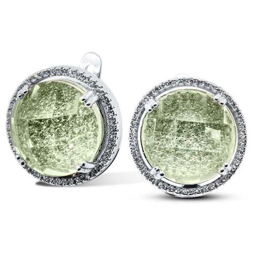 Silver WINGS Серьги из серебра куб.цирконий, смола ювелирная 22b8198u-127
