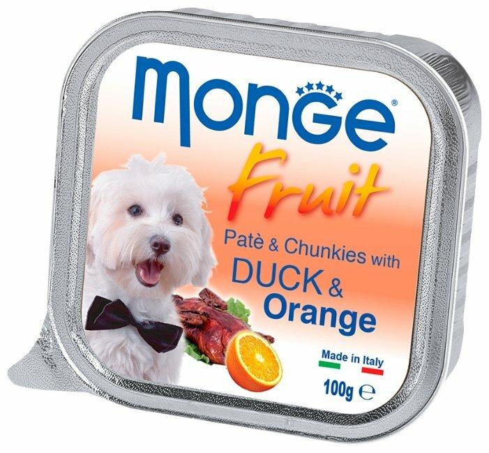 Корм для собак Monge Fruit утка С апельсином 32шт. х 100г