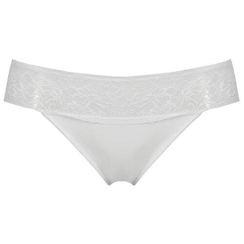 Alla Buone Трусы слипы с кружевной полоской спереди и сзади, размер 4(48), белый