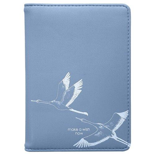 Обложка для паспорта 100х135 мм, иск. кожа. Wish IPC059/blue