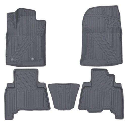 Комплект ковриков KVEST KVESTTYT00002K для Toyota Land Cruiser Prado 5 шт. серый