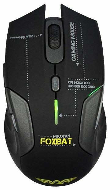 Мышь Armaggeddon Mikoyan FoxBat Black-Grey USB