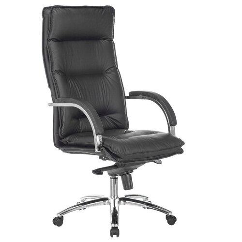 Компьютерное кресло Бюрократ T-9927SL для руководителя, обивка: натуральная кожа, цвет: черный компьютерное кресло бюрократ t 9927walnut low для руководителя обивка натуральная кожа цвет черный