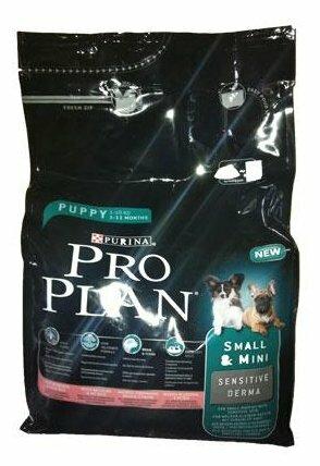 Корм для щенков Purina Pro Plan Optiderma для здоровья кожи и шерсти, лосось с рисом 800г (для мелких пород)