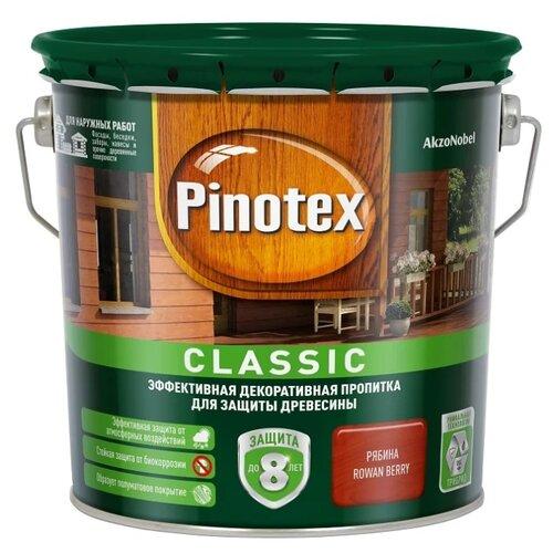 Фото - Водозащитная пропитка Pinotex Classic рябина 2.7 л водозащитная пропитка pinotex classic светлый дуб 1 л