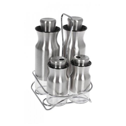 TAC Набор для масла и специй 5 предметов серебристый