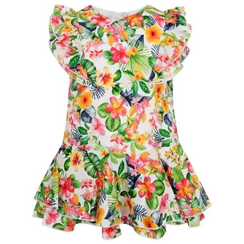 Платье Mayoral размер 92, зеленый/оранжевый/розовый