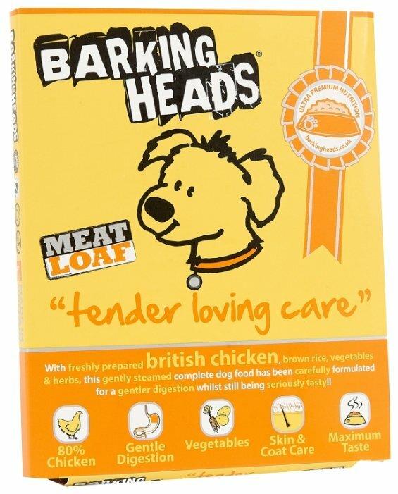 Корм для собак Barking Heads Консервы для собак с чувствительным пищеварением Нежная забота с курицей, Tender loving Care