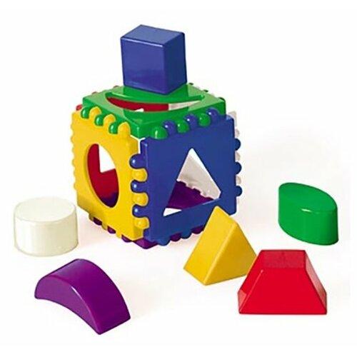 Купить Сортер Рыжий кот Логический куб маленький И-3928, Сортеры