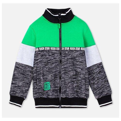 Купить Олимпийка playToday размер 98, темно-серый/серый/зеленый, Толстовки