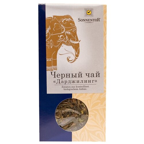 Чай черный Sonnentor Дарджилинг, 100 г чай черный sonnentor с чабрецом 90 г