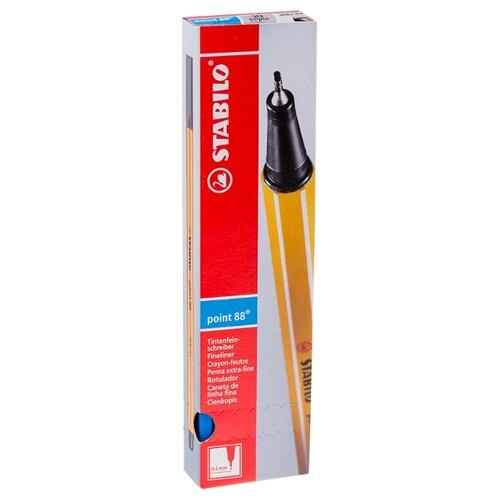 Купить STABILO Набор капиллярных ручек Point 88 0.4 мм, 10 шт., ультрамарин цвет чернил, Ручки