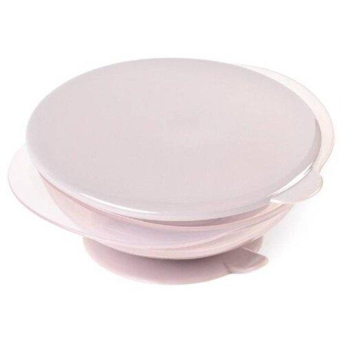 Купить Тарелка Happy Baby на присоске с крышкой (15002) lilac, Посуда