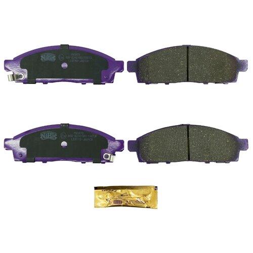 Дисковые тормозные колодки передние NIBK PN3809 для Nissan NV200, Mitsubishi L200, Mitsubishi Pajero Sport (4 шт.)