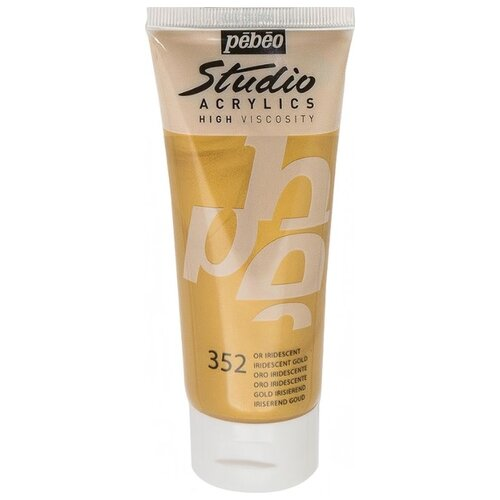 Pebeo Краска акриловая Studio Acrylics, 100 мл золото иридисцентное pebeo краска акриловая decocreme кремовая матовая 120 мл 04 желтый