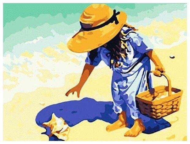 """Купить Картина по номерам Цветной """"На пляж, за ракушками!"""", 40x50 см по низкой цене с доставкой из Яндекс.Маркета"""