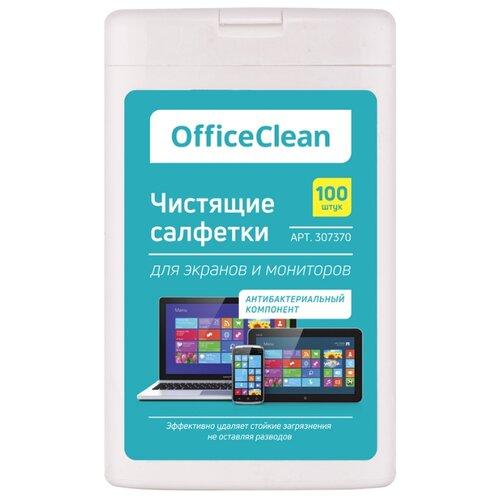 Фото - OfficeClean 307370 влажные салфетки 100 шт. для экрана, для оптики скатерти и салфетки zlata korunka скатерть морель 120х150 см