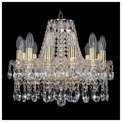 Люстра Bohemia Ivele Crystal 1413/12/141/G, E14, 480 Вт люстра bohemia ivele crystal 1771 1771 12 220 b nb e14 480 вт