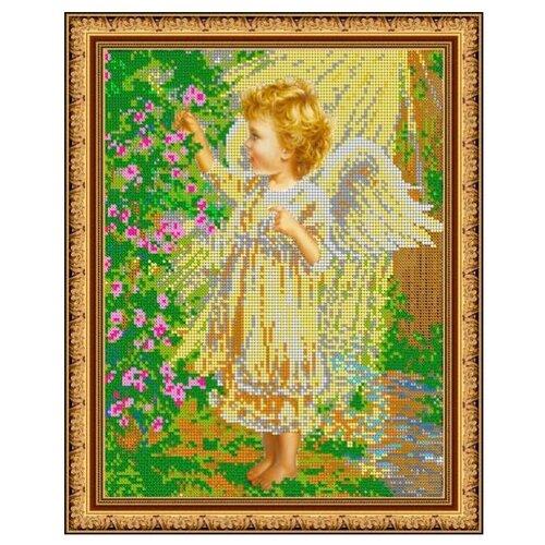 Светлица Набор для вышивания бисером Ангелочек в саду 24 х 30 см, бисер Чехия (467)