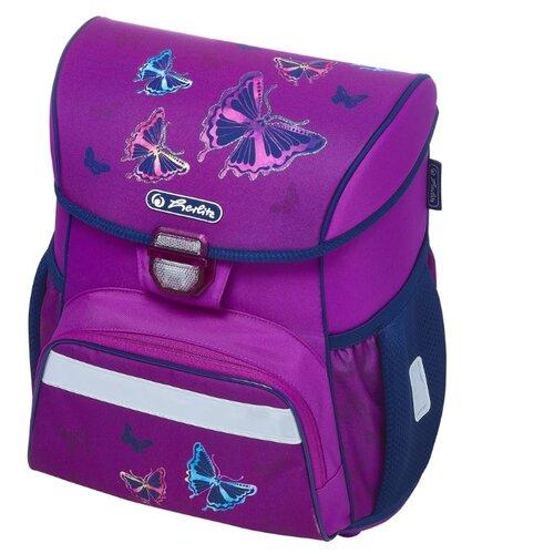 Купить Herlitz Ранец Loop Glitter Butterfly, фиолетовый, Рюкзаки, ранцы