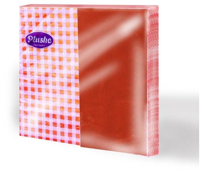 Салфетки Plushe Дуэт Клетка-Оранж 33 х 33 см