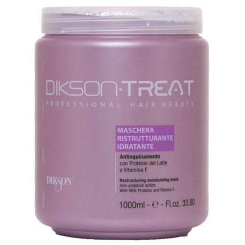 Dikson Treat Маска восстанавливающая увлажняющая с витамином F для волос, 1000 мл