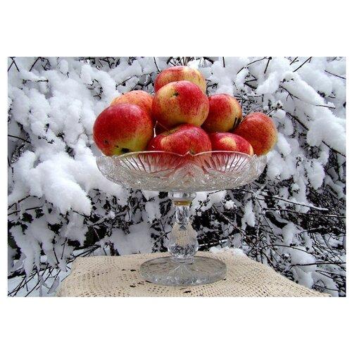 Molly Картина по номерам Яблоки на снегу 40х50 см (KH0238)Картины по номерам и контурам<br>