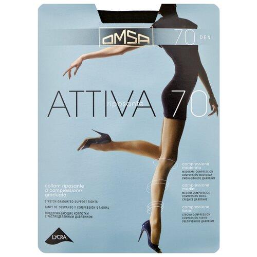 Колготки Omsa Attiva 70 den, размер 4-L, fumo (серый) колготки omsa attiva 30 den размер 2 s fumo серый