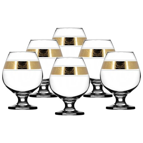 ГУСЬ-ХРУСТАЛЬНЫЙ Набор бокалов Первоцвет TAV38-188 400 мл 6 шт прозрачный гусь хрустальный набор бокалов для бренди лоза tav116 1812 6 шт прозрачный золотой