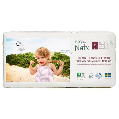 Купить Naty трусики Eco 5 (12-18 кг) 34 шт., Подгузники
