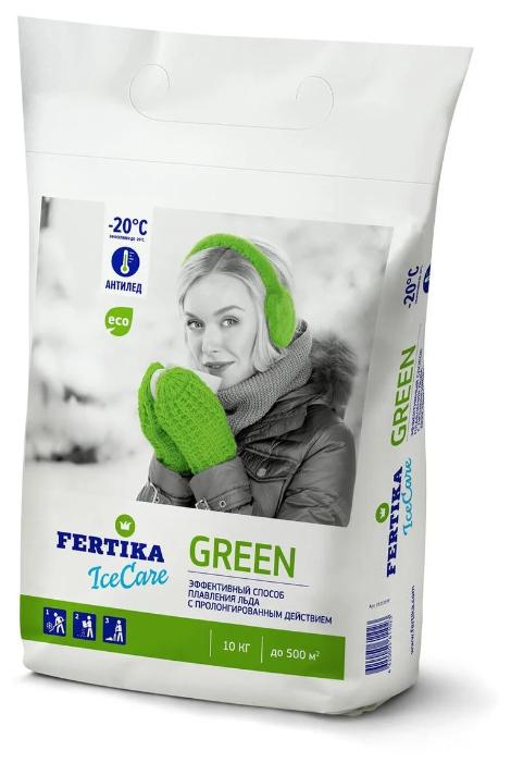 Противогололедный реагент FERTIKA IceCare Green