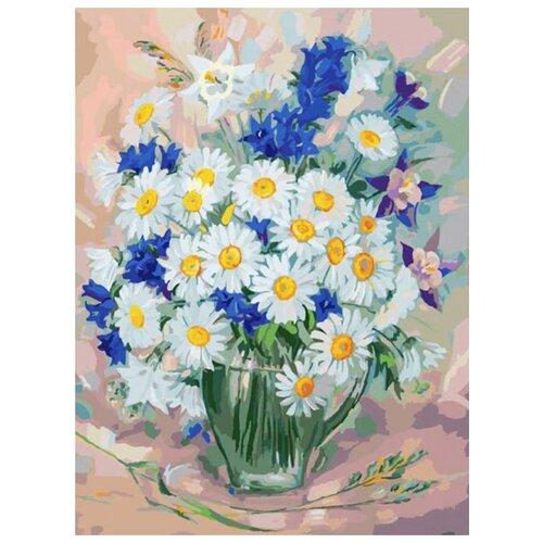 Купить Картина по номерам Белоснежка Ромашки 5 , 30x40 см, Картины по номерам и контурам