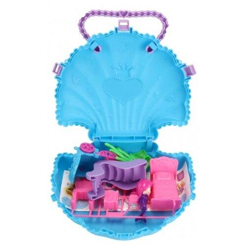 ABtoys Домик-сумка В гостях у куклы PT-01393, голубой, Кукольные домики  - купить со скидкой