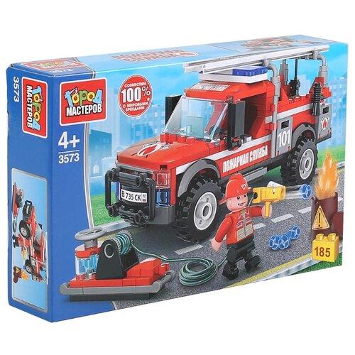 Купить Конструктор ГОРОД МАСТЕРОВ Пожарная служба 3573 Пожарная машина, Конструкторы