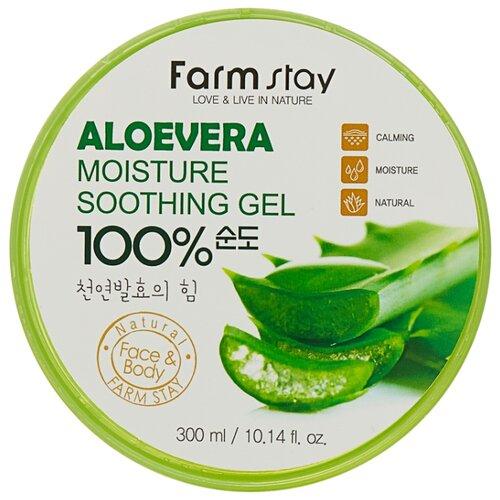 Купить Гель для тела Farmstay универсальный смягчающий с экстрактом алоэ Aloe Vera Moisture Soothing Gel, 300 мл