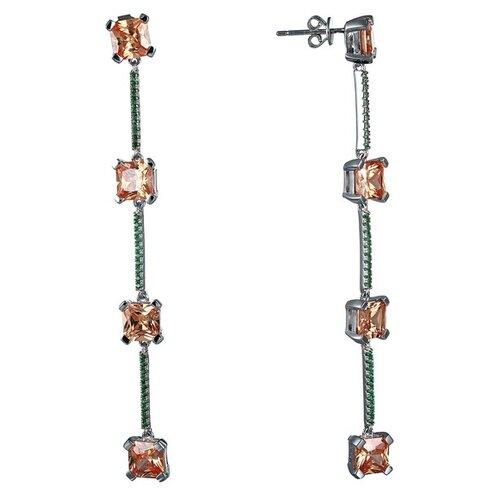 Фото - JV Серебряные серьги с кубическим цирконием WE26316-R1-SR-001-WG jv серебряные серьги с кубическим цирконием ss b0858ec sr 001 wg