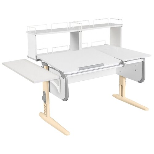 Стол ДЭМИ СУТ-25-02Д2 145x82 см белый/серый/бежевый стол дэми сут 25 02д2 145x82 см белый зеленый бежевый