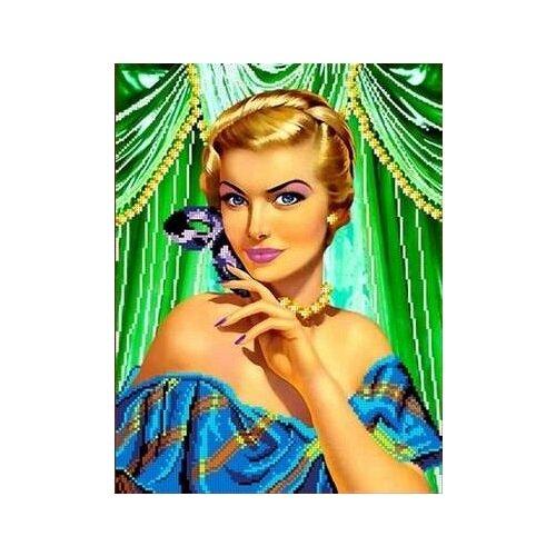 Купить На балу Рисунок на ткани 27х26 Каролинка ТКБЛ 3005, Канва