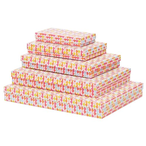Фото - Набор подарочных коробок Мишель Фокс Много сердечек №13, 5 шт розовый/желтый набор подарочных коробок tai an baoli paper product co ltd фауна 17 шт желтый