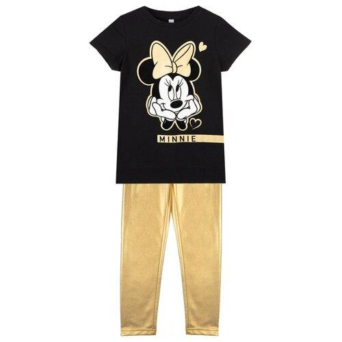 Комплект одежды playToday размер 122, черный/золотистый, Комплекты и форма  - купить со скидкой