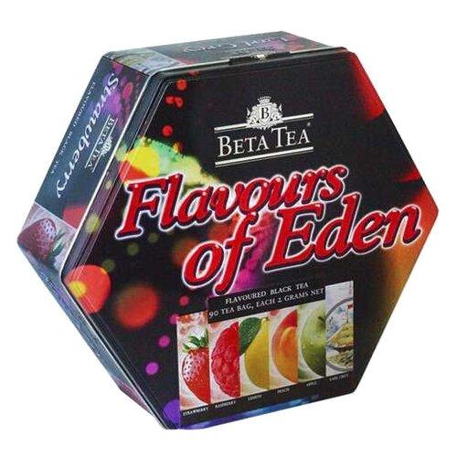 Чай черный Beta Tea Райские ароматы ассорти в пакетиках подарочный набор , 90 шт.