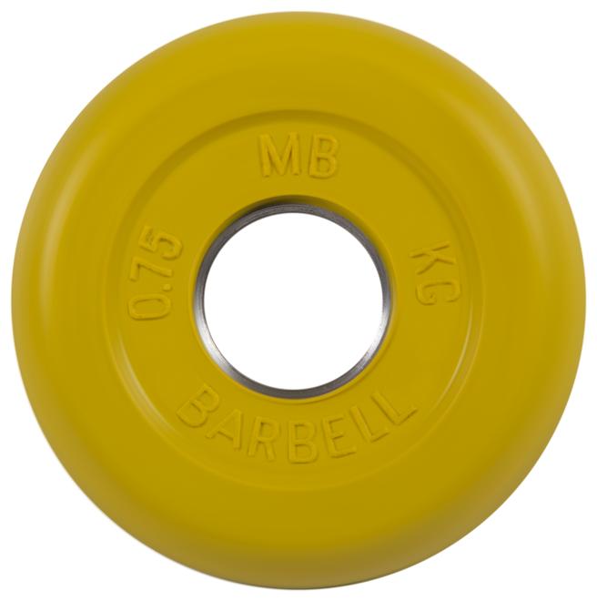 Диск MB Barbell Стандарт MB-PltC31 0.75 кг