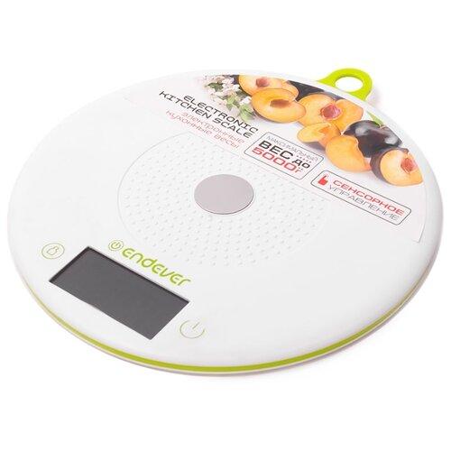 Кухонные весы ENDEVER KS-523 белый/салатовый