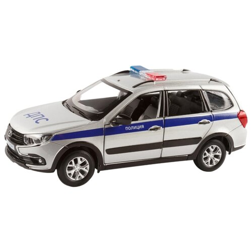 Купить Легковой автомобиль Автопанорама Lada Granta Cross Полиция (JB1251202) 1:24 серебряный, Машинки и техника