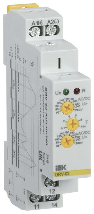 Реле контроля напряжения IEK ORV-02-AD110-240
